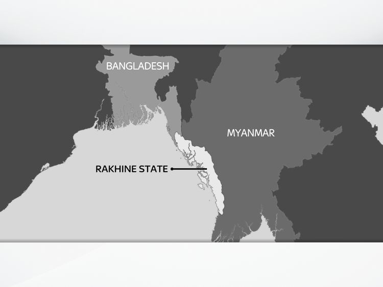 Rakhine State lies on the western coast of Myanmar, bordering the Bay of Bengal