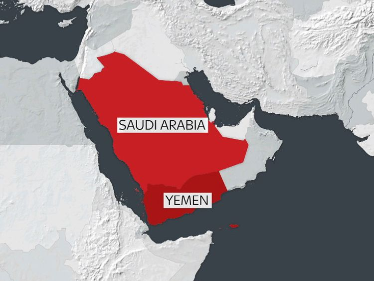 The missile is reported to have been fired across Saudi Arabia's southern border by Yemen's Houthi rebels