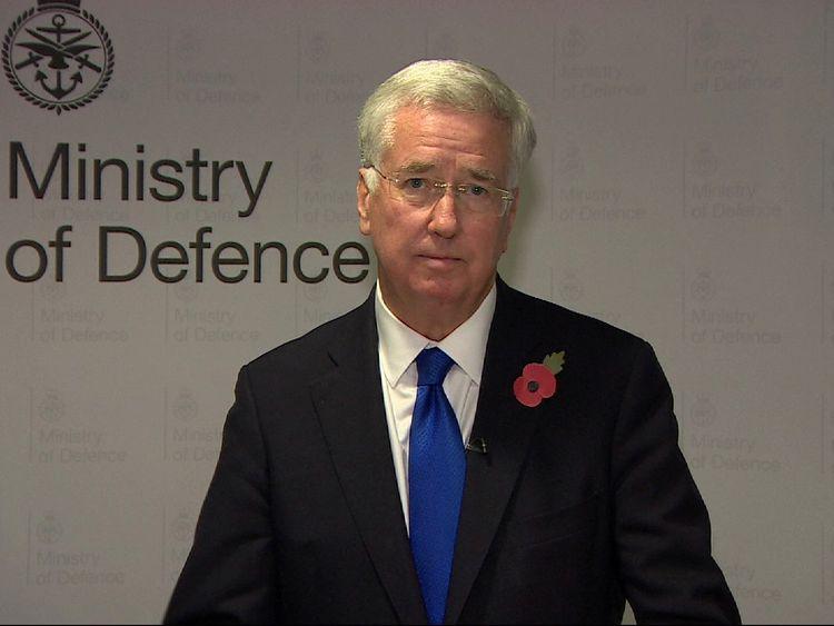 Sir Michael Fallon resigns as Defence Secretary