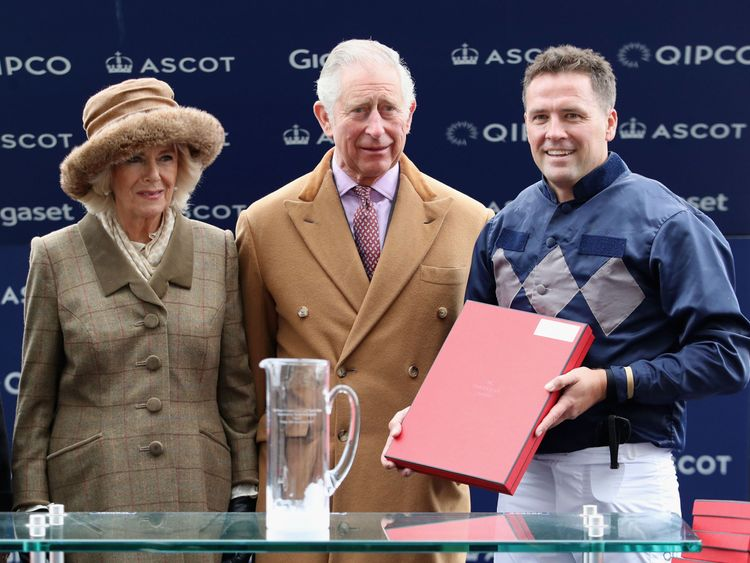 Michael Owen with the Prince of Wales and Duchess of Cornwall
