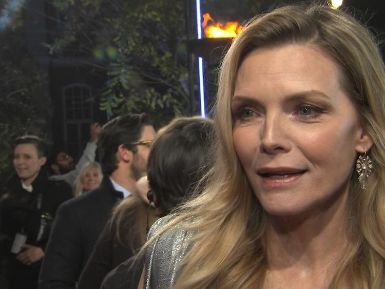 Michelle Pfeiffer comments on Hollywood sleaze scandal at the London premiere of Murder On The Orient Express