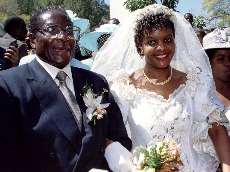 Robert and Grace Mugabe married at a catholic church in August 1996