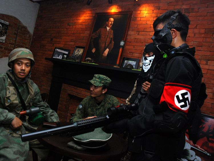 A Nazi-themed cafe also finally closed its doors in Indonesia in January