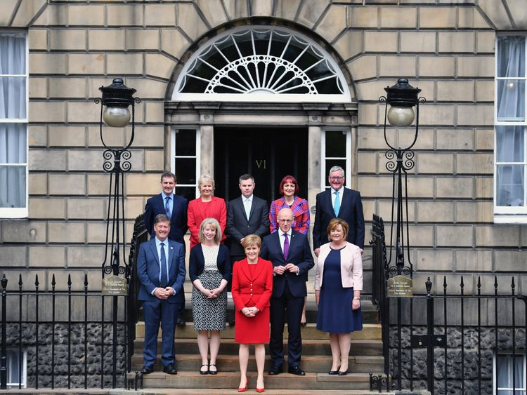First Minister Nicola Sturgeon unveils her new cabinet on 18 May