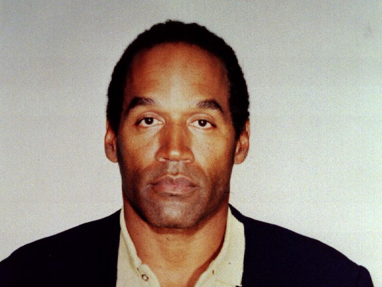 OJ Simpson's headshot taken after his 1994 arrest
