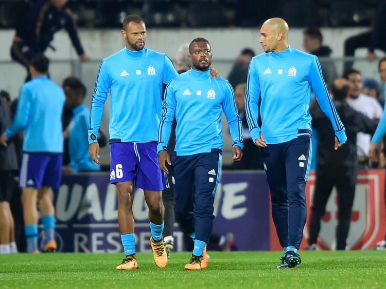 The French international was sent off before the match even started