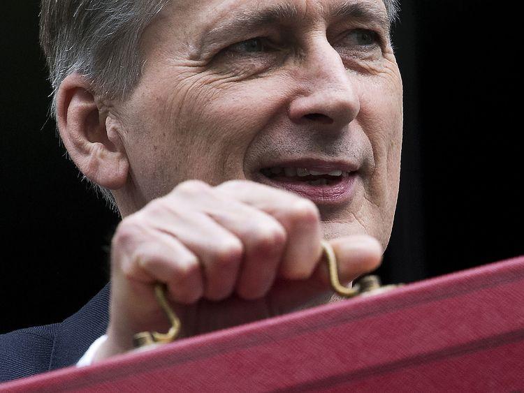 Philip Hammond with the Budget Box