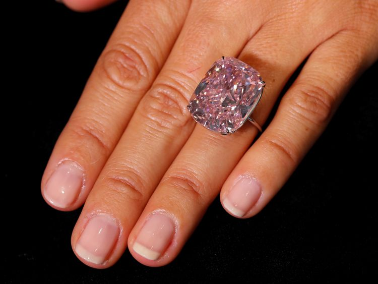 The Pink Raj is expected to fetch upwards of $30 million at an auction in Geneva