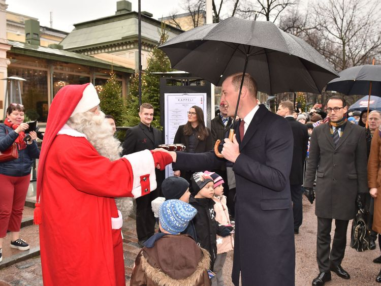 Dear Santa: Prince George's wish list delivered to Father Christmas by William