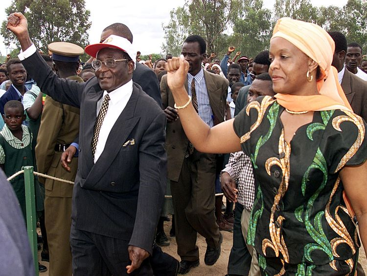 The former teacher married his one time secretary Grace Marufu in 1990