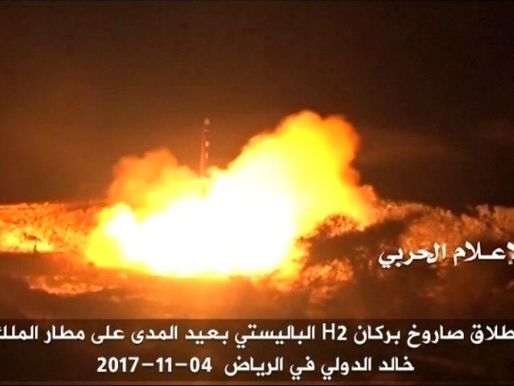 Saudis shoot down missile aimed at palace