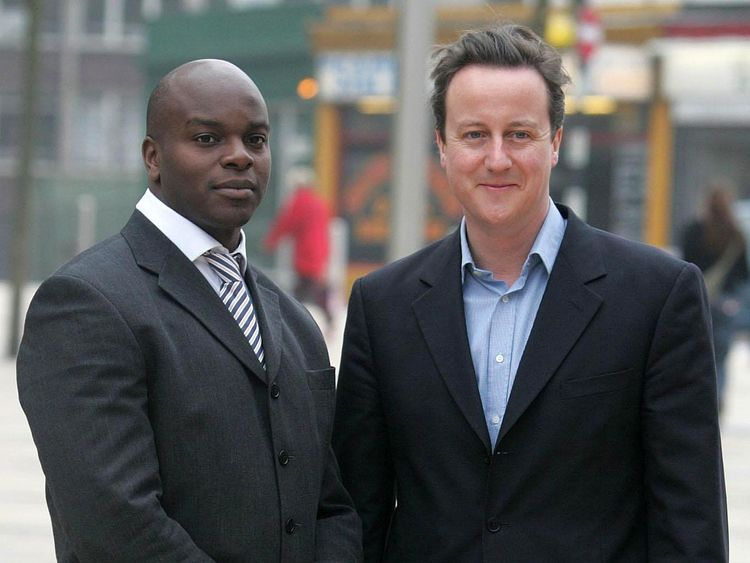 Shaun Bailey with David Cameron in 2007