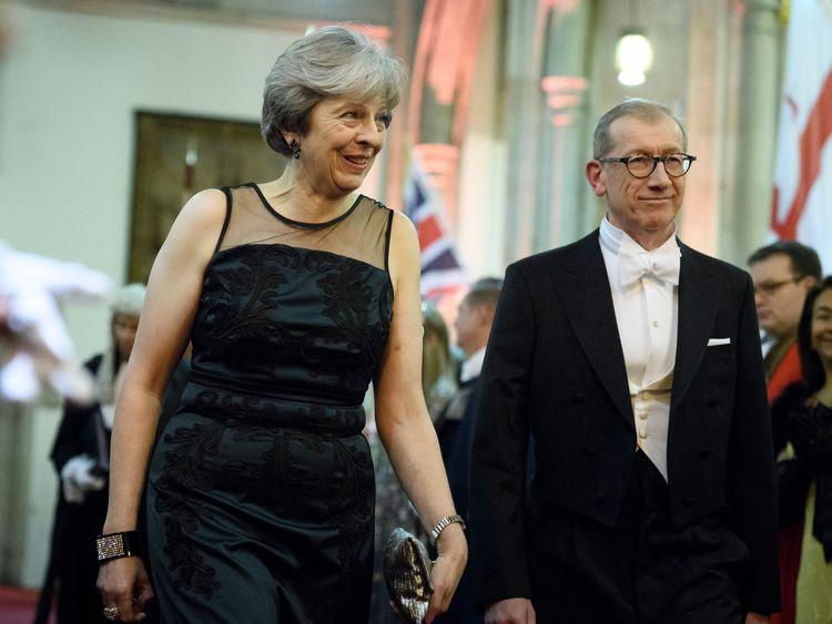 Theresa May and Philip May