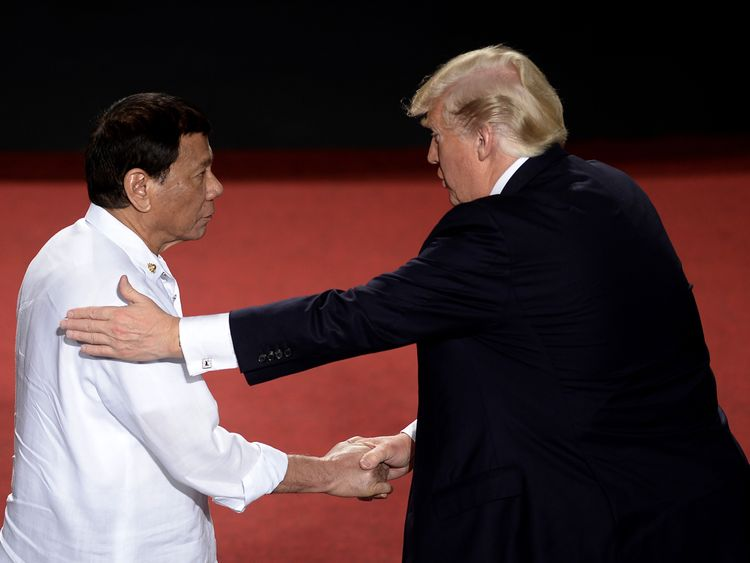 Trump and Duterte in the Philippines