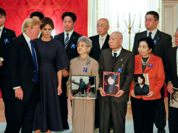 Trump meeting relatives of people kidncapped by North Korea