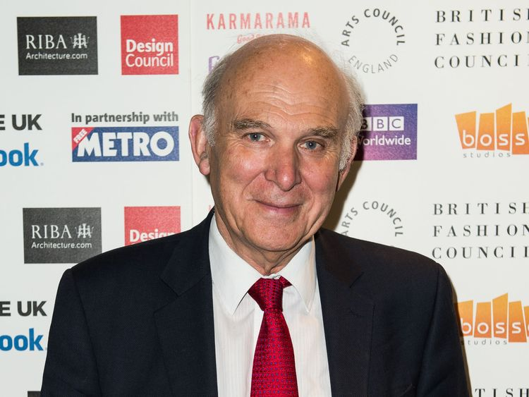 Vince Cable, Secretary of State for Business, Innovation and Skills attends Create UK launched by the Creative Industries Council at Facebook Headquarters on July 2, 2014 in London, England