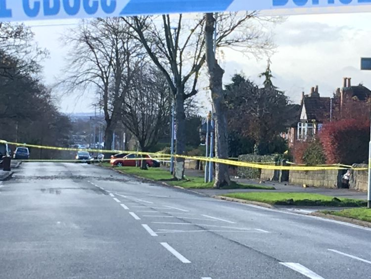 The scene of a car crash in Leeds that left five people dead