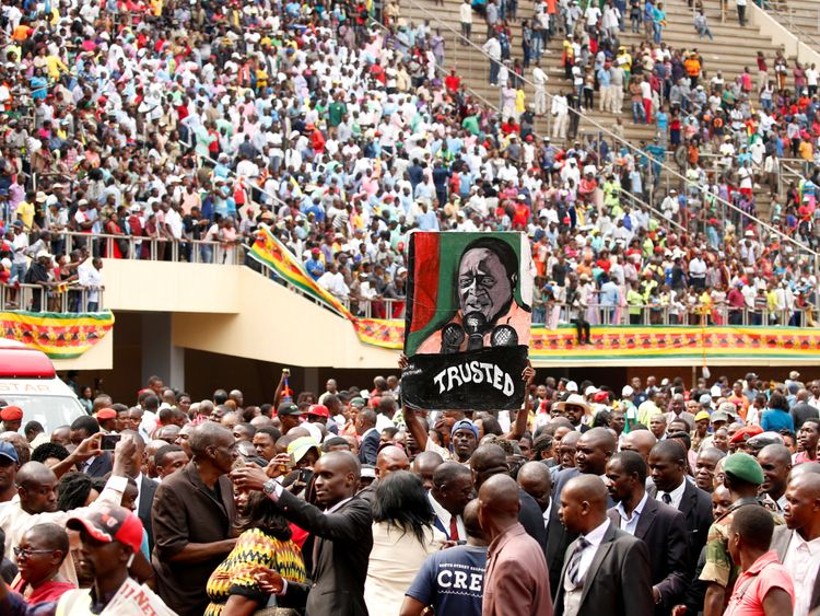 Zimbabweans celebrate the inauguration of new leader Emmerson Mnangagwa