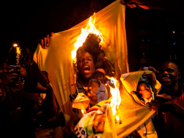 Zimbabweans living in Johannesburg, South Africa, also celebrated