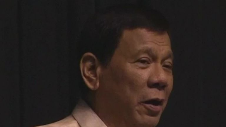 Rodrigo Duterte sings to Donald Trump