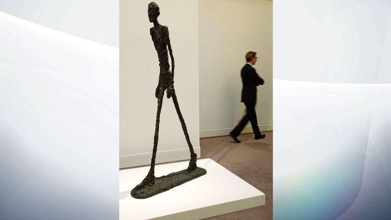 Alberto Giacometti's sculpture Walking Man I