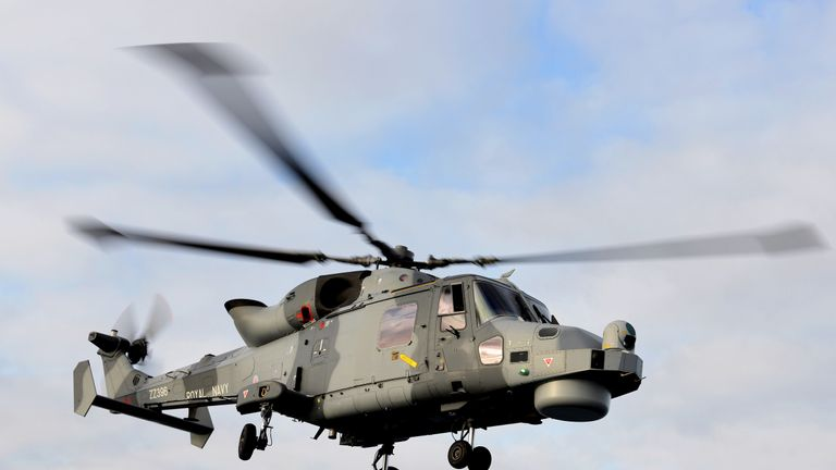 The AgustaWestland Wildcat helicopter