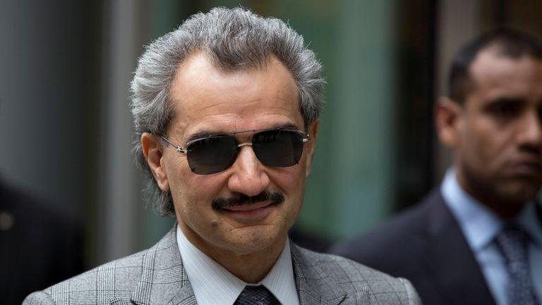 FILE PHOTO - Saudi Arabian Prince Alwaleed bin Talal leaves the High Court in London