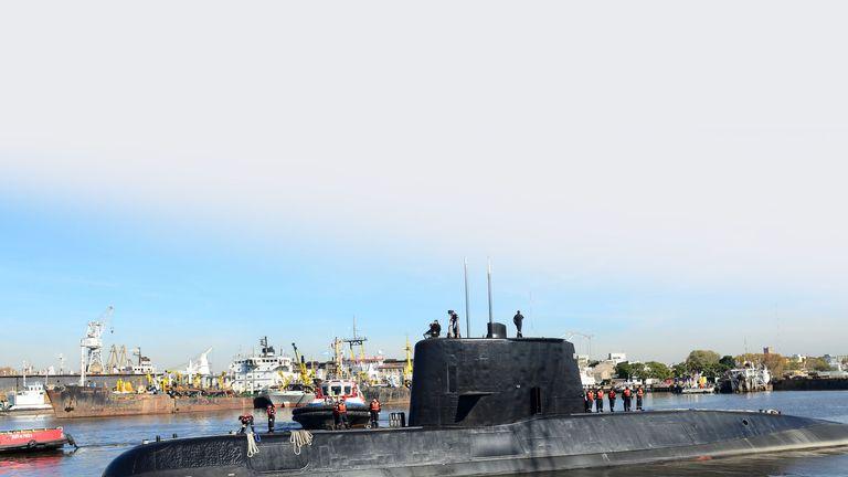 ARA Sub Juan submarine