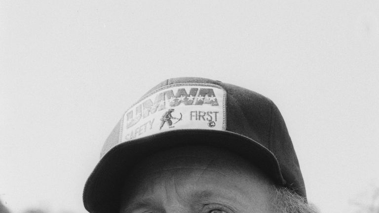 NUM leader Arthur Scargill with picketing miners at Orgreave Colliery, South Yorkshire, during the miners' strike in 1984