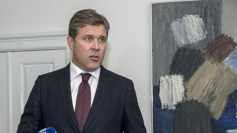 Iceland's Independence Party leader Bjarni Benediktsson