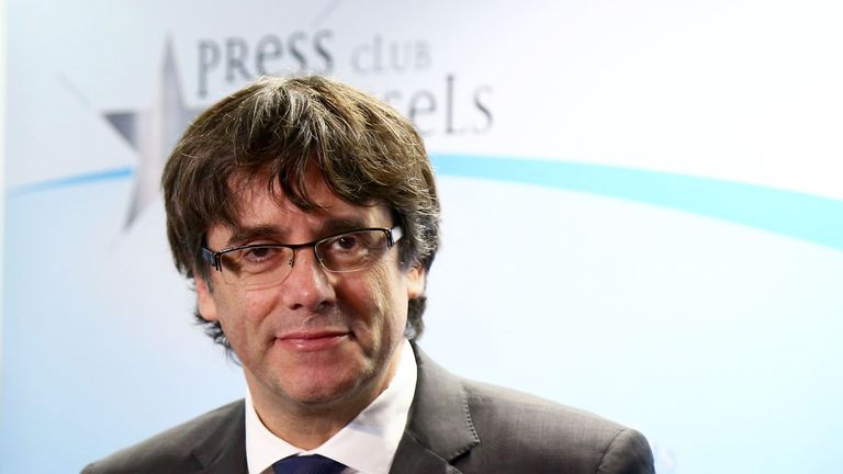 Disputed Catalan president Carles Puigdemont