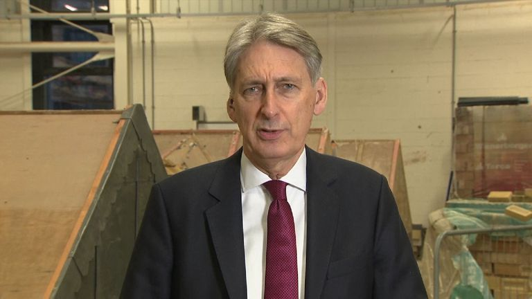 Philip Hammond defends his Budget on Sky news