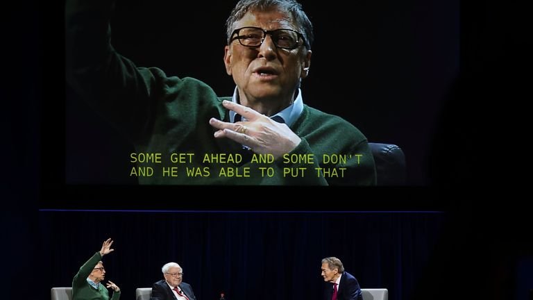 Rose interviewed Bill Gates and Warren Buffett in January 2017