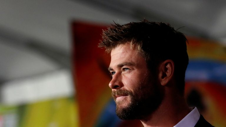 Chris Hemsworth at the premiere of Marvel's Thor: Ragnarok