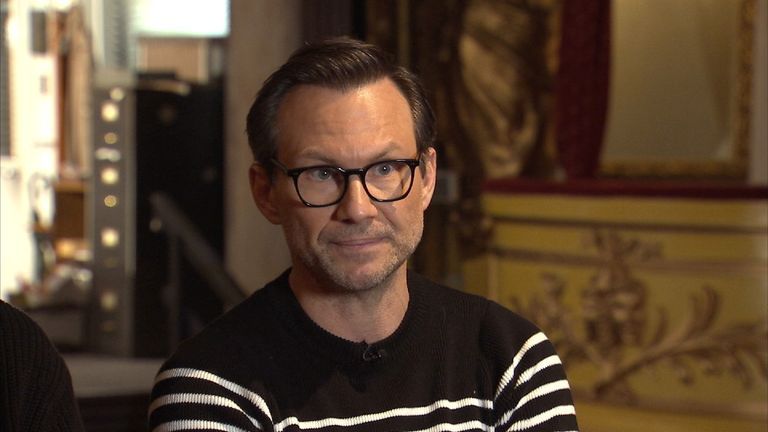 Christian Slater comments on the 'rumours' one hears in the entertainment business about inappropriate behaviour