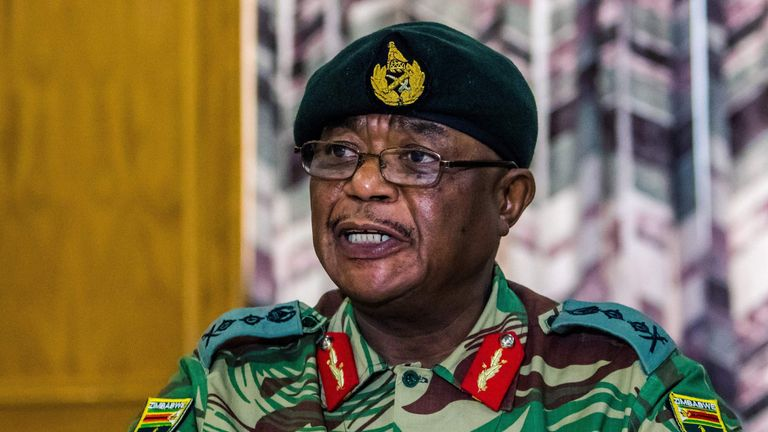 General  Constantino Chiwenga, head of the armed forces in Zimbabwe