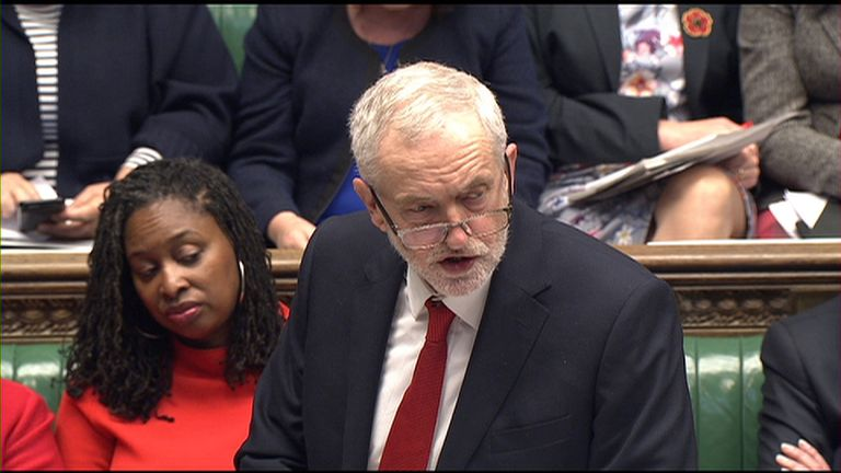 Jeremy Corbyn gives his response to the Budget