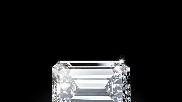 The rough diamond was 404.20 carats before it was cut. Christie's Images Ltd 2017