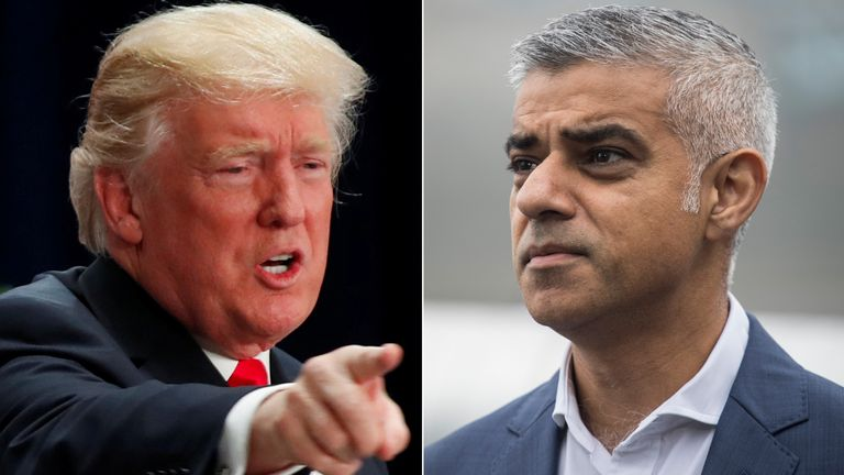 Donald Trump and Sadiq Khan