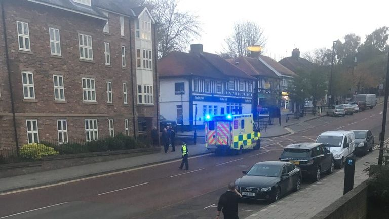 The cordoned area in Durham. Pic: Tania Chakraborti, Palatinate UK