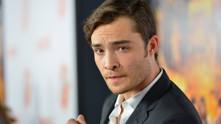 HOLLYWOOD, CA - OCTOBER 25: Actor Ed Westwick arrives to the premiere of Paramount Pictures' 'Fun Size' at Paramount Theater on the Paramount Studios lot on October 25, 2012 in Hollywood, California. (Photo by Alberto E. Rodriguez/Getty Images)
