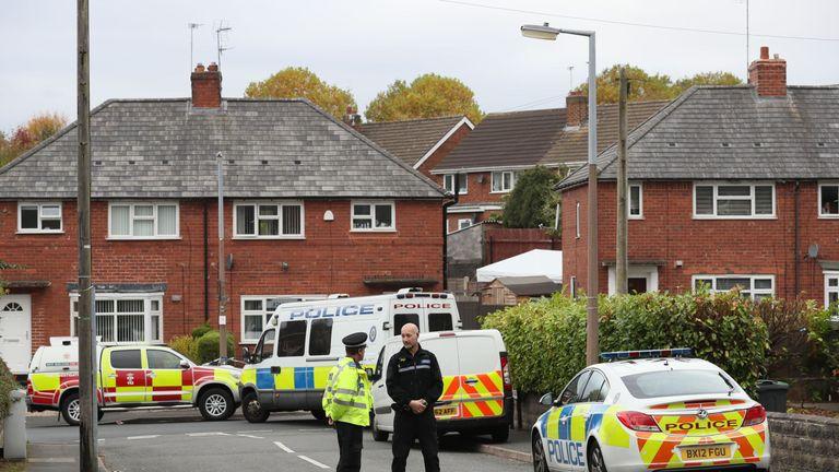Police attending the scene last year in Holland Road, Birmingham