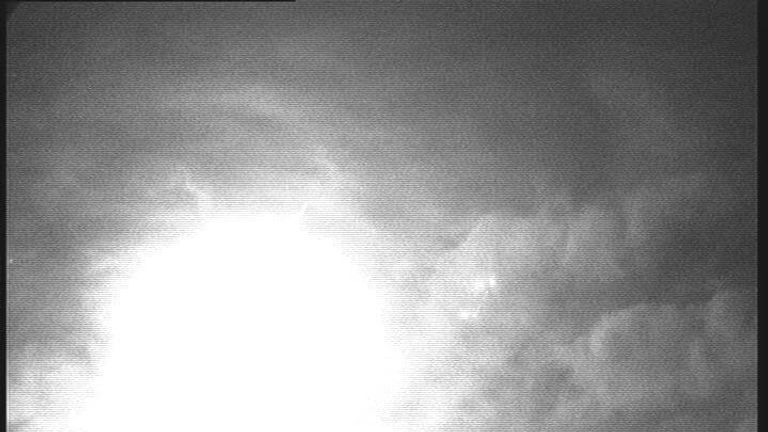 An image of a fireball seen in the sky above Wilcot, Wiltshire. Picture: UKMON