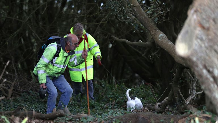 Member of the public help to look for Gaia Pope