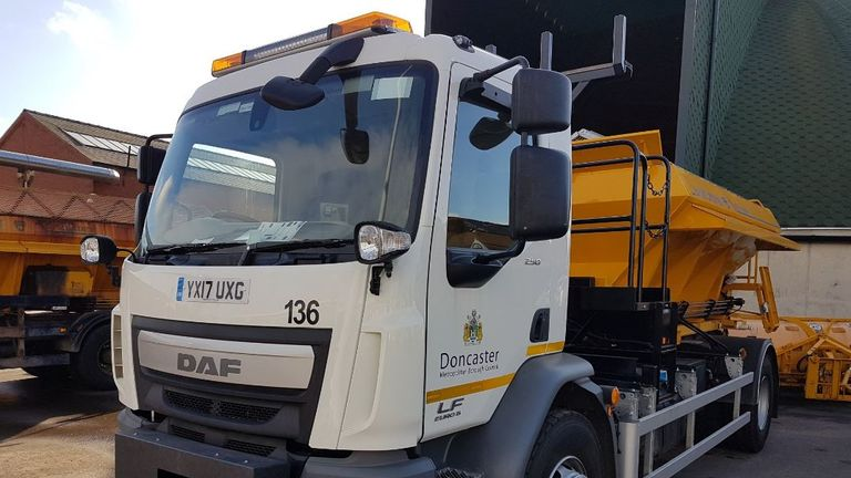 One of Doncaster Council's new gritters, which was named in a public vote. Pic: @MyDoncaster