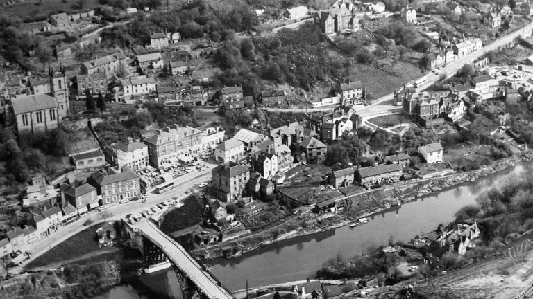 1974 view of bridge above River Severn