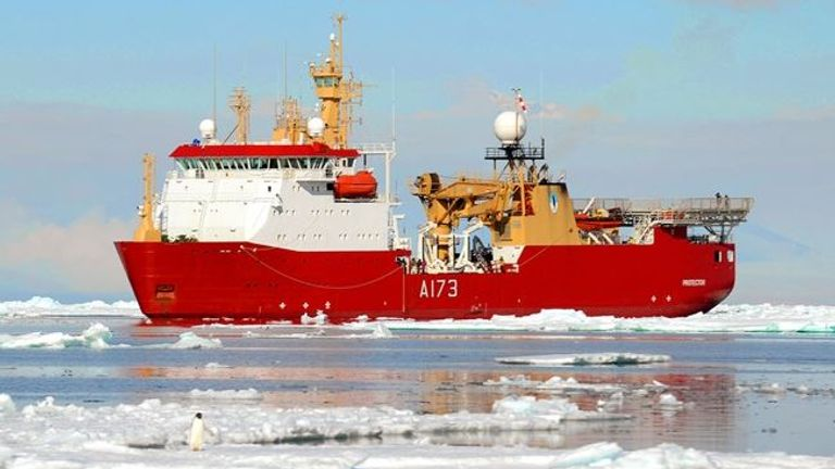HMS Protector is helping in the search for the ARA San Juan