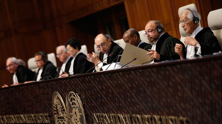The International Court of Justice settles disputes between countries