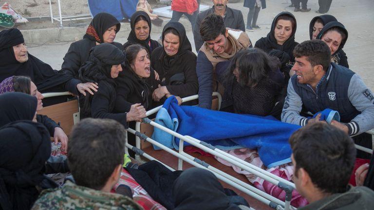 The quake hit a Kurdish region near the Iran-Iraq border