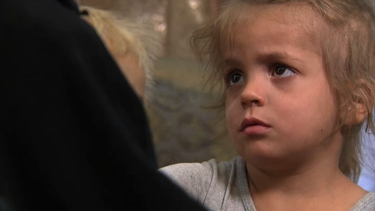 A child of an Islamic State fighter's widow
